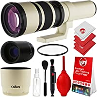Oshiro 500mm/1000mm f/6.3 Manual Telephoto Lens for Canon EOS 80D, 70D, 60D, 60Da, 50D, 40D, 30D, 1Ds, Mark III II, 7D, 6D, 5D, 5DS, Rebel T6s, T6i, T6, T5i, T5, T4i, T3i, T3, SL1 Digital SLR Cameras