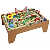 Wooden Railway - Thomas & Brio Compatible - 130 Piece Train set with Table 50050 by Railroad