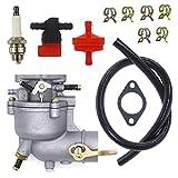NIMTEK Carburetor with Air Filter Repower Kit For Briggs & Stratton 390323 394228 299169 7 8 9 HP Horizontal Engine Motor Generator Tiller Mower Fit Toro Snowblower 293950 394514