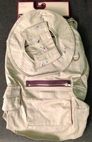 Woolrich Khaki Fishing Vest and Cap for Pet Dog - (Woolrich Pet)