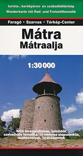 Matra Mountains (Hungary) 1:30,000 Hiking Map