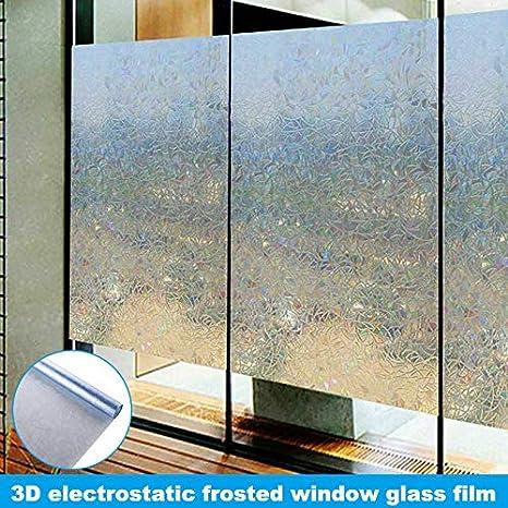 LianLe Film de Protection Autocollant pour fen/être Anti-UV 45 x 200 cm
