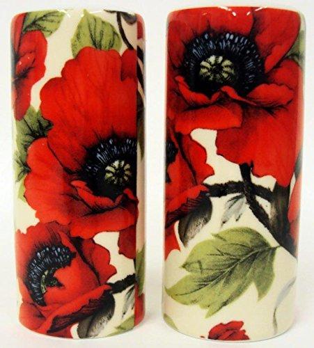 Red poppy salt pepper ceramic red poppies flowers round salt red poppy salt pepper ceramic red poppies flowers round salt pepper cruet set hand mightylinksfo