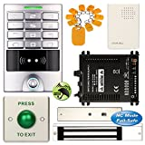 DIY Access Control Waterproof Keypad Office RFID Entry Code System Kit + Electric Magnetic Door Lock NC Fail Safe