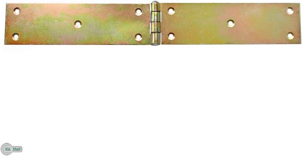 10 Scharniere Gerollte breite Tischb/änder 45 x 250 x 2,0 mm