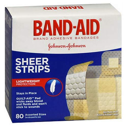 Band-Aid Sheer Strips Assorted - 80 ct, Pack of 4 - Sheer Strips Aid Band