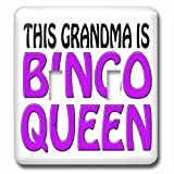 3dRose lsp_149773_2 This Grandma Is Bingo Queen Purple Double Toggle Switch