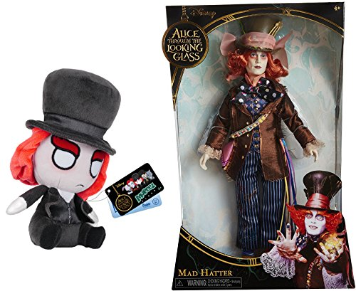 """Mad Hatter Alice Through the Looking Glass 11.5"""" Deluxe Collector Doll + Bonus Funko Mopeez Mad Hatter Plush Figure"""