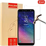 [2-Pack] Samsung Galaxy A6 2018 Screen Protector, PULEN HD Clear Film[Scratch Resistant Anti-fall] [Bubble Free] [Anti-fingerprints] 9H Hardness Tempered Glass for Samsung Galaxy A6 2018