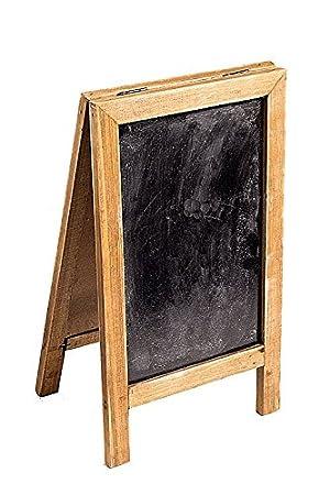 Amazon.com: Dos cara Free Standing Marco de madera pizarrón ...