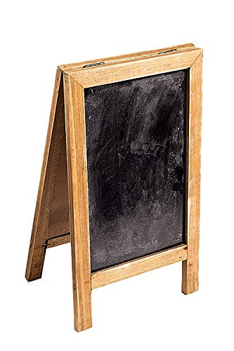 Two Sided Free Standing Wood Frame Chalkboard for Counter - 12-1/2-in (Red)