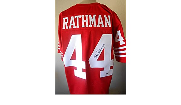 7d7484e1ca2 Tom Rathman signed Jersey Gtsm Witnessed Hologram & Coa Sf 49ers Autograph  Football at Amazon's Sports Collectibles Store