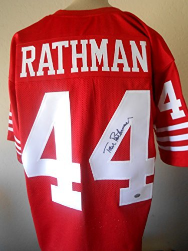 595895e8cbd Tom Rathman signed Jersey Gtsm Witnessed Hologram & Coa Sf 49ers Autograph  Football