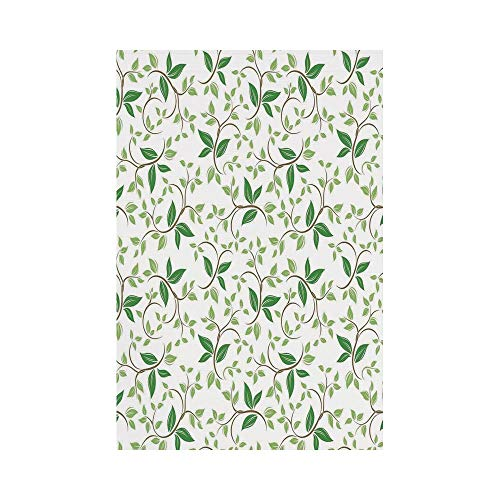 Potters Creme - Polyester Garden Flag Outdoor Flag House Flag Banner,Leaves,Ivy Patterns with Tiny Fancy Green Leaves Branches Creme Contemporary Illustration,Green Brown,for Wedding Anniversary Home Outdoor Garden D
