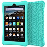 LEDNICEKER Shock Proof Case for Fire HD 8 2018/2017 Tablet - Light Weight Soft Silicone Kids Friendly Protective Case for Fire HD 8-inch (7th & 8th Generation Tablet, 2017 & 2018 Release), Turquoise