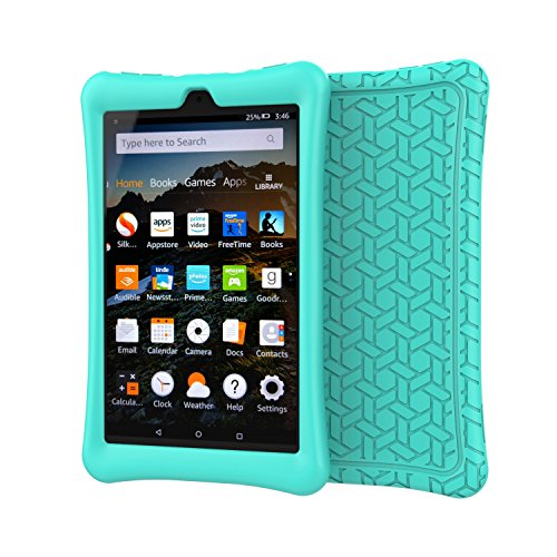 BMOUO Silicone Case for All-New Amazon Fire HD 8 2018 / 2017 - Anti Slip Light Weight Shock Proof Kids Friendly Protective Case for Fire HD 8 Tablet (7th and 8th Generation, 2017 and 2018 Release) , T
