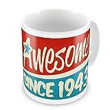 Coffee Mug Awesome since 1943, Birthday/Year - Neonblond