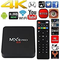 MXQ Pro TV Box Android 6.0 Set Top Box Quad Core Smart 4K Ultra HD 1G/8G 64Bit Set Top TV Box with WiFi HDMI DLNA