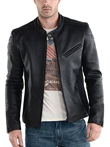 Laverapelle Men's Genuine Lambskin Leather Jacket (Black, Extra Small, Polyester Lining) - 1501008 ()