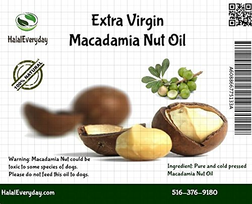 Macadamia Nuts Oil - 100% Pure and all Natural 16 Oz - 100% cold pressed - (Mac Nut)