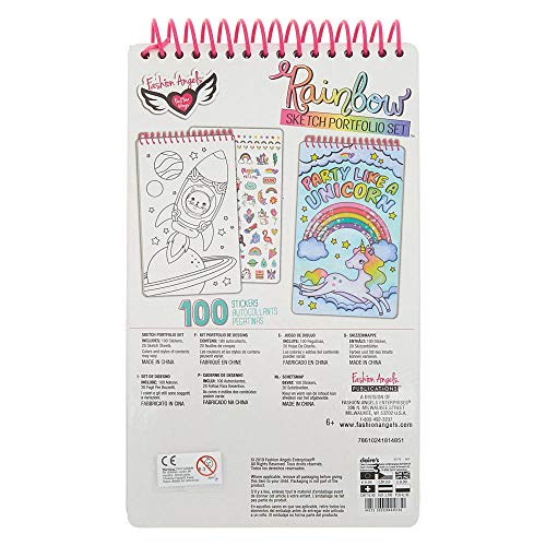 Fashion Angels Rainbow Shaker Compact Sketch Portfolio, -
