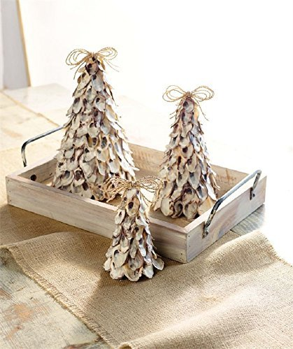 (Mud Pie Oyster Shell Tree Set of 3 )