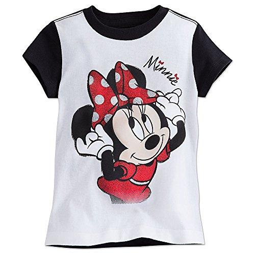 Disney Minnie Mouse Ringer Tee for Girls Size S (5/6) (Girl Kids Ringer T-shirt)