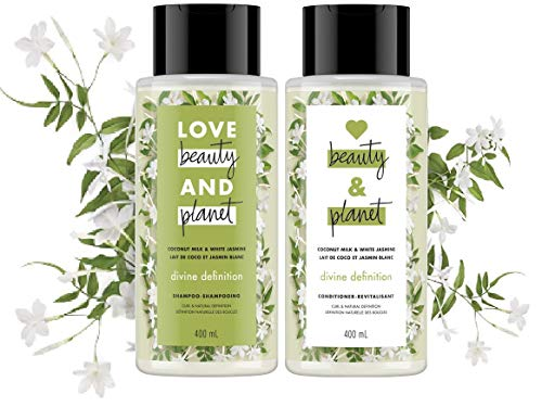 Love Beauty & Planet - Coconut Milk and White Jasmine Divine Definition Shampoo & Conditioner 13.5 fl oz Each ()