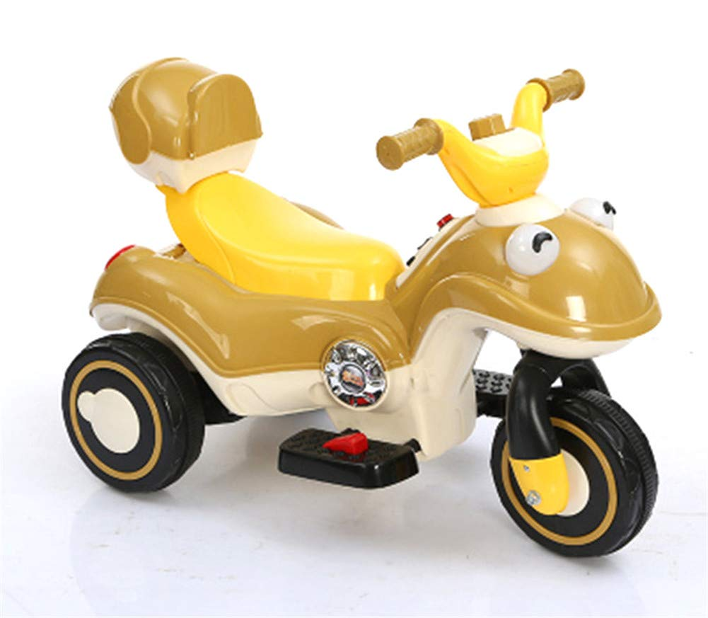Bambino Moto Elettrico 6V Batteria Motocicletta Musica Motocross Con Luce A LED Veicolo Scooter,giallo