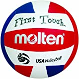 Molten First Touch Volleyball, Red/White/Blue, 10 & Under/5.0-Ounce