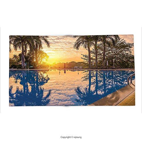 Custom printed Throw Blanket with House Decor Collection Luxury Swimming Pool reflexion In Morning Sunrise Modern Nature Cloudscape Sunshine Super soft and Cozy Fleece (Reflexion De Halloween)