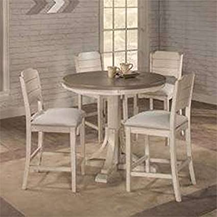 c30e3f2ed16 Amazon.com  Hillsdale Furniture 4542CTB5S4 Hillsdale Clarion Round Counter  Height Parson Stools