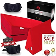 Night Owl73 Couples' Bedroom Adventure Set: Memory Foam Wedge Pillow + Sex Pillow + 2 Sleeping Masks  Sturdy, Anti-Skid, Waterproof & Heavy-Use Combo Set, Adventure Gift for Couples, Red