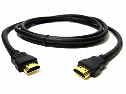 Fuerte Cable HDMI, Oro 3 Meter Plomo Cable de alta velocidad HDMI a HDMI Premium