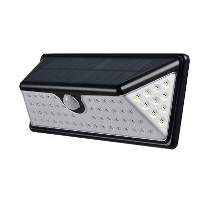 Gouwy Solar Lights Outdoor 73 LED Sensor De Movimiento Luces con 270 ° De Ángulo Ancho