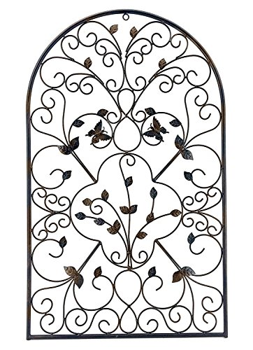 Bellaa 23196 Metal Wall Art Garden Plaque Outdoor Butterfly 31""