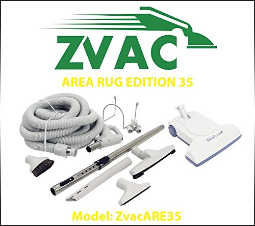 Zvac Area Rug Edition 35 – 35ft hose central vacuum cleaner attachment kit for homes with hardwood floors & area rugs. Model: ZVacARE35