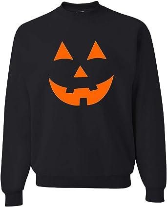Happy Halloween pumpkin jack o lantern black Crewneck Pullover Sweatshirt