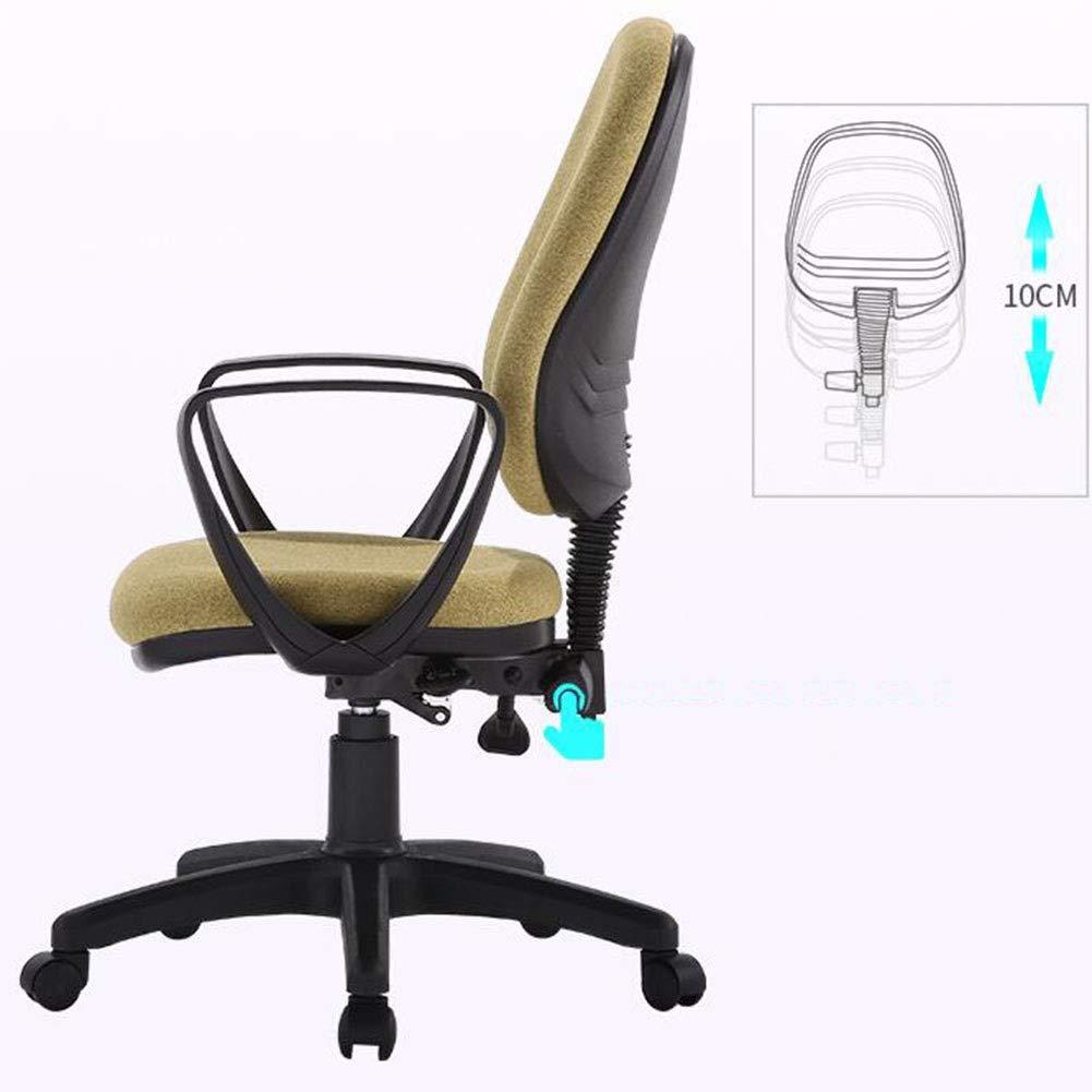 DALL kontorsstol 360° svängbar ergonomisk lutningsfunktion datorspelstol justerbar ryggstöd sitthöjd 38–48 cm konferensstol (färg: Brun) gRÖN