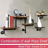 Reclaimed Wood & Industrial DIY combination Pipes shelf Shelves Steampunk Rustic Urban bookshelf and bookcases