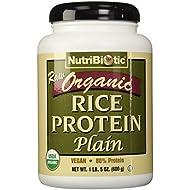 NutriBiotic Organic Rice Protein Plain, 21 Ounces