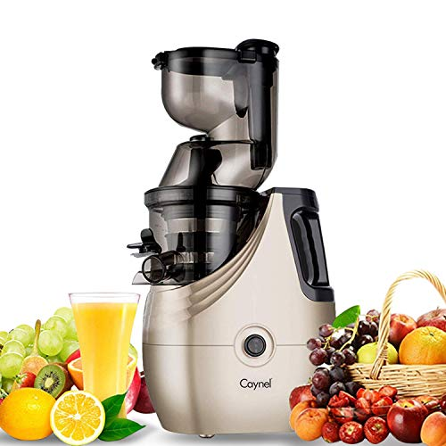 (Caynel Whole Slow Masticating Cold Press Juicer Extractor Quiet Durable Motor, 3