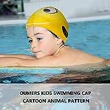 Oumers Kids Swimming Cap [Pack of 2] Silicone Waterproof Swim Cap/Bathing Cap