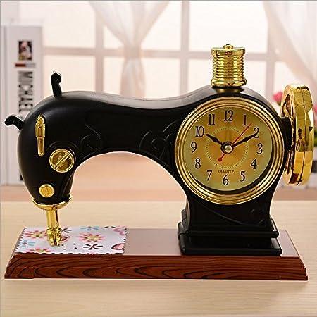 SSBY Máquina de coser reloj alarma reloj de escritorio de ideas de ...