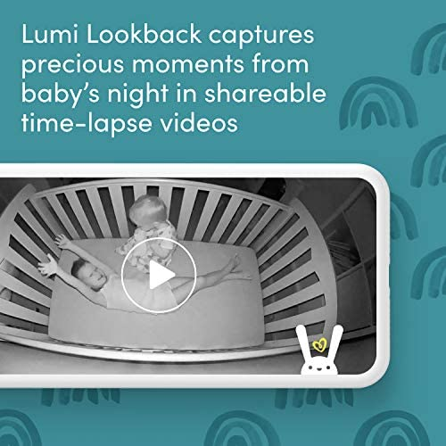 511XvF0cUuL. AC - Lumi By Pampers Smart Baby Monitor: Camera With HD Video & Audio – WiFi – Night Vision – Temperature & Humidity Tracking And Two Way Audio