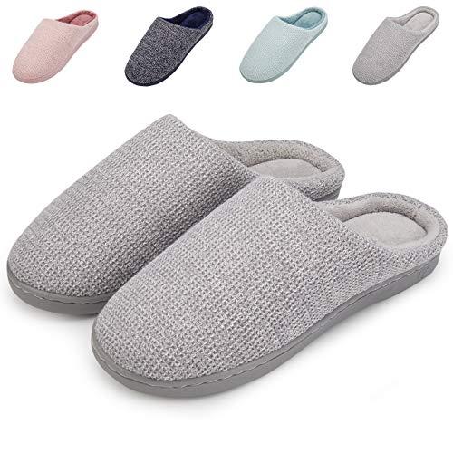 Plush House Fuzzy Memory Comfort Cotton Washable Foam Anti Indoor Grey Shoes Slippers slip Women's Welltree P4wqaa