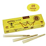 pre rolled king size cones - HORNET 40 Pre-Rolled Cones Natural Hemp King Size Organic Cigarette Rolling Papers with Tips (110mm)