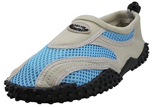 Easy USA Damen Aqua Wave Wasser Schuhe Socken Hellgrau / Blau