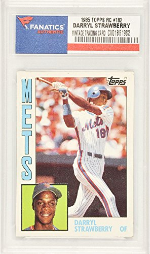 Darryl Strawberry New York Mets 1985 Topps Rookie #182 Card - Fanatics Authentic Certified - Baseball Slabbed Rookie Cards