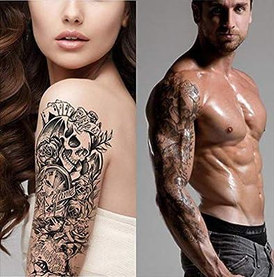 Tatuajes temporales para hombre y mujer, diseño de calavera ...